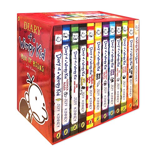 Diary of a Wimpy Kid Box Set Collection - 12 Books NEW By Jeff Kinney