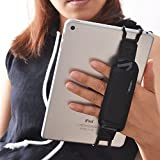 TFY Tablet Security Hand Strap Holder, Compatible with iPad (iPad Mini & Mini 2 & Mini 3 / iPad Air/iPad Air 2 / iPad Pro 9.7Inch) - Samsung Tablets - Nexus 7 / Nexus 10 and More (Black)