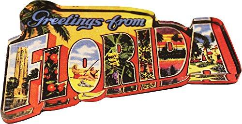 Florida - Postcard Greetings from Florida Acrylic Magnet (3