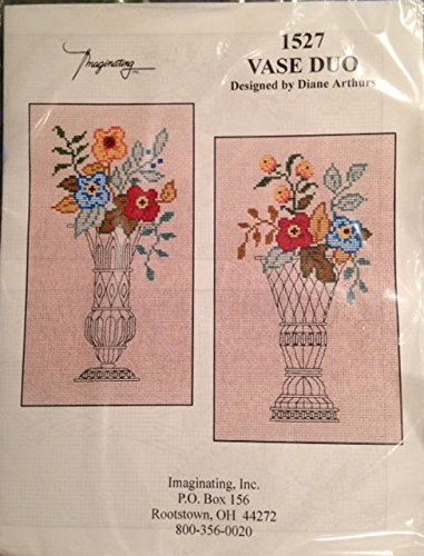 - Imaginating - Vase Duo Cross Stitch - Designed by Diane Arthurs - Kit 1527