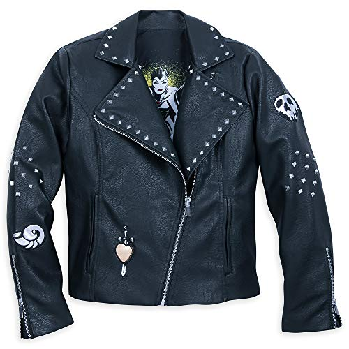 Disney Evil Queen and Ursula Moto Jacket for Women Size Ladies 2XL Black