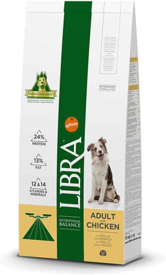 LIBRA - Pienso para Perros Adultos pequeños, medianos y Grandes Pollo