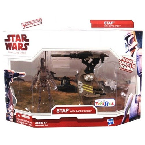 Star Wars 2009 Clone Wars Legacy Collection Exclusive Vehicle Stap with Battle Droid ()