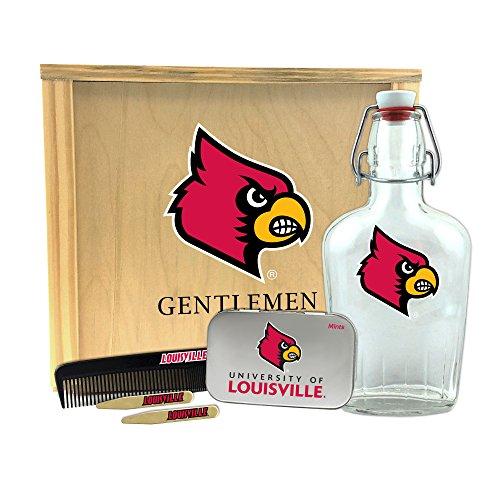 Worthy Promo NCAA Louisville Cardinals Gentlemen's Gift Box 1-250 ml Glass Swing-Top Bottle, 10
