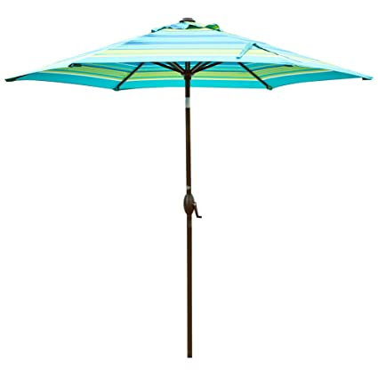 Amazon Com Abba Patio 9 Feet Patio Umbrella Outdoor Market Table