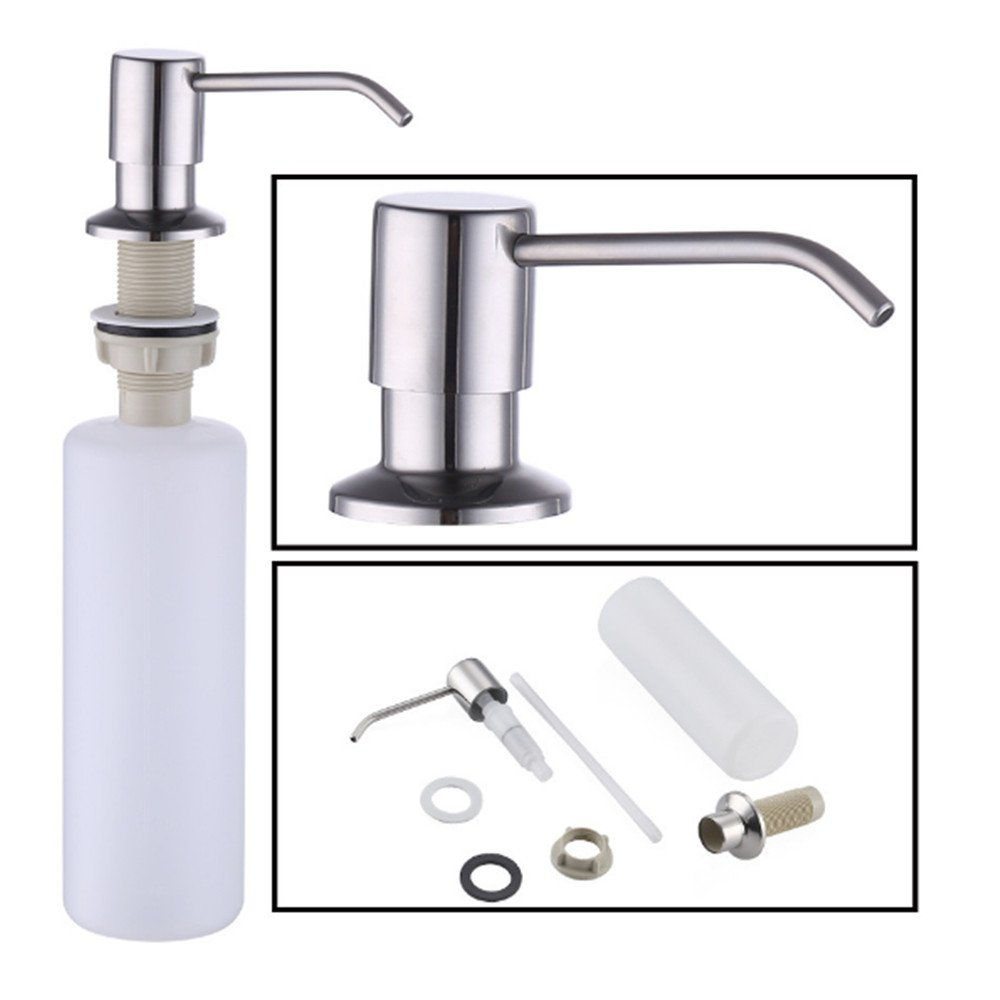 Kitchen Sink Soap Dispenser, Stainless Steel Soap Dispenser Brushed Nickel by LITVZ (Image #2)