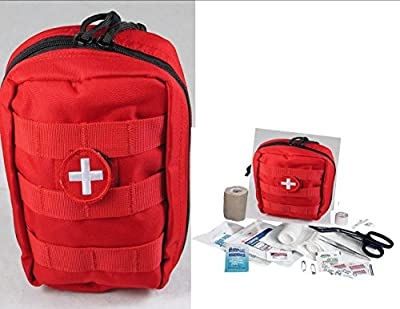Tactical First Aid Kit: Vas Tactical Trauma First Aid Kit #1 - Red Molle Bag from ELITE