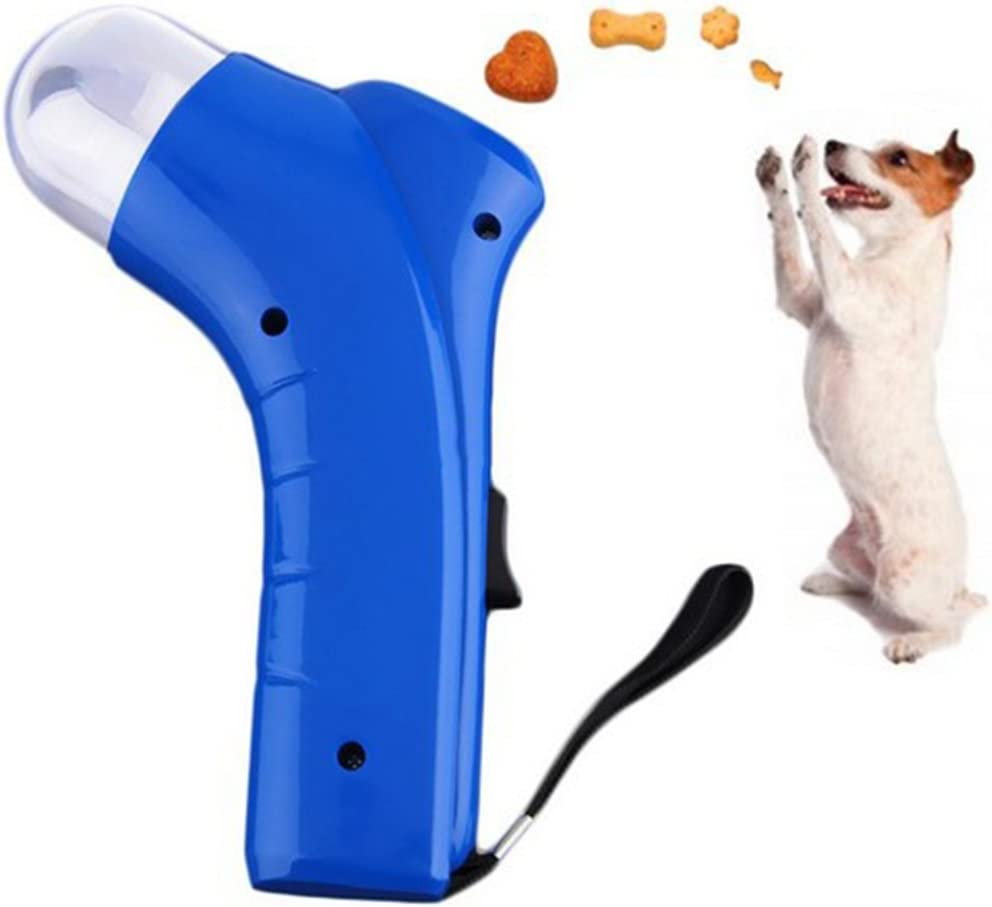 Anniston Dog Food Feeder, Dog Cat Treat Launcher Snack Food Feeder Catapult Pet Interactive Training Tool for Your Pet Puppy Small Medium Large Dogs,