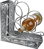 Old Dutch Antique Embossed Victoria 3-Bottle Wine Rack Bookend, 10-1/4 by 4-3/4 by 10-1/4-Inch