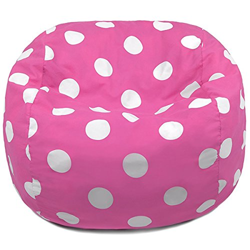 Oversized Bean Bag Chair In Candy Pink With White Polka