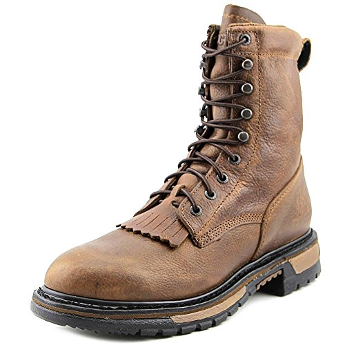 Rocky Rider Lacer Men Round Toe Leather Work Boot