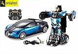 Zest 4 Toyz Remote Controlled one Button Car To bugatti style Transformer