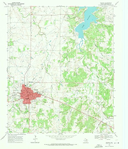 Reproductions Historical Map (Historic Map   Nocona, Texas (TX) 1968   USGS Historical Topographic Map   Vintage Chart Wall Art Poster Decor Reproduction   24in x 30in)