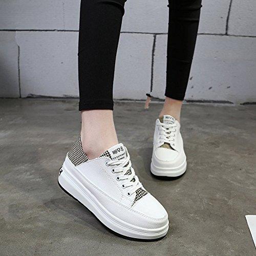 blanco Formato Mujer Los Tela Pequeños Zapatos en Plano Blancos Mujeres Femenino Zapatos Fondo GAOLIM De Zapatos amarillo De Gruesos Zapatos De Backplane RgUwp4q