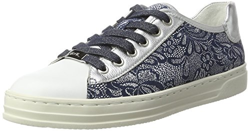 Ara Courtyard - Zapatillas de casa Mujer Blau (Weiss,silber/jeans)