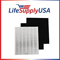 1 HEPA and 2 Carbon Replacement Filter Pack for Coway AP-1512HH 1512 by LifeSupplyUSA