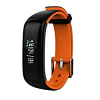 Nex Box Montre connectée équipée de Bluetooth, tensiomètre, cardiofréquencemètre, podomètre, compteur de calories, tracker d'activités