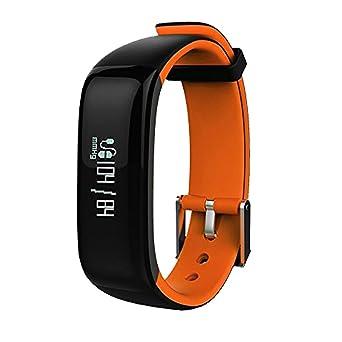 Nex Box Montre connectée équipée de Bluetooth, tensiomètre, cardiofréquencemètre, podomètre, compteur de