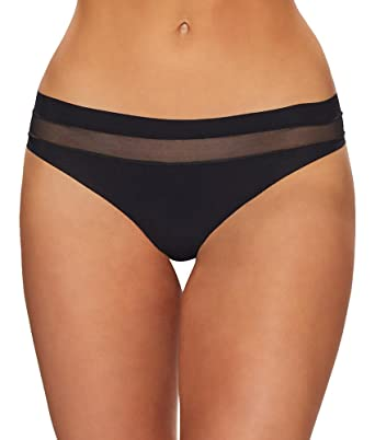 69aeaf6a8283 commando Women's Chic Mesh Hybrid Thong at Amazon Women's Clothing store: