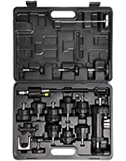 18pcs Auto Cooling System Radiator Cap Pressure Tester Kit Pump Gauge Adapters