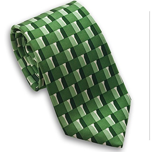 Josh Bach Men's Golf Themed Silk Necktie Green Made in USA