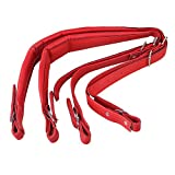 Yibuy Adjustable Accordion Shoulder Strap Set Artificial Leather Red Set of 2