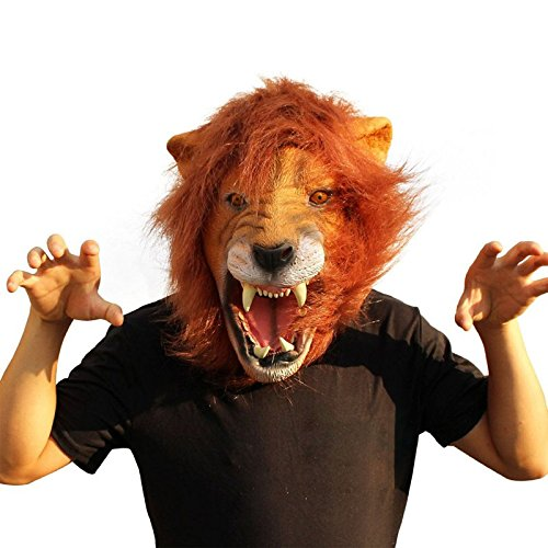 Realistic Lion Mask, 2018 Halloween Props Adult Angry Lion Head Masks Animal Full Celebrity - Bird Head Mask, Angry Baby Mask, Mask Monkey, Lion Mask Realistic, Alpaca Mask