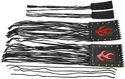 Nrpfell 4 Pi/èCes S/éRies//Ensemble Universel PU la Moto Guidon Gland Fringe Grip Cover Couvercle de Levier pour Victory Cruiser