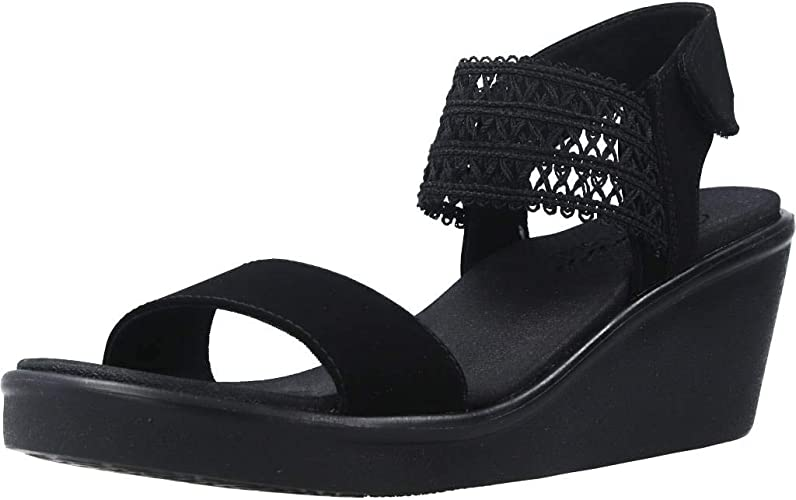 átomo acción participar  Skechers Womens Rumble On – Takeover Sandals in Black: Amazon.co.uk: Shoes  & Bags