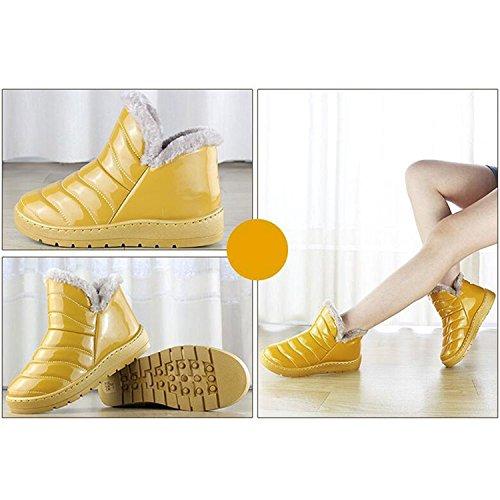 Botas Botas Nieve Impermeables de Mujer amarillo Resistencia al Invierno de Botas Agua Botas YFrqFwCBx
