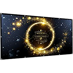 OWLENZ 120 inch Projection Screen 16:9 HD Foldable Anti-Crease Portable Projector Movies Screen for Home Theater Outdoor Indoor Support Double Sided Projection, 2.5 lbs Only