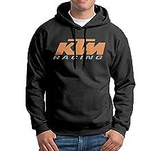 KTM Racing Mens Fleece Pullover Hoodie Sweatshirts Black