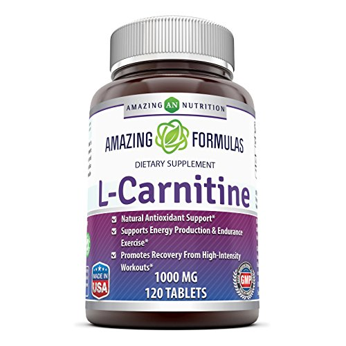 Amazing Formulas L Carnitine Fumarate Supplement 1000 mg 120 Pills by Amazing Nutrition
