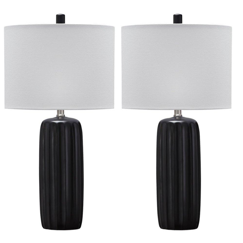 Ashley Furniture Signature Design Adorlee Matte Ceramic Table Lamp