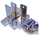 Chrome Plated Zamac Two Ear Wall Bracket - Pak/2 - for 1'' Restroom Partition Panels