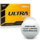 ball customized - Wilson Ultra 500 Distance Personalized Golf Balls