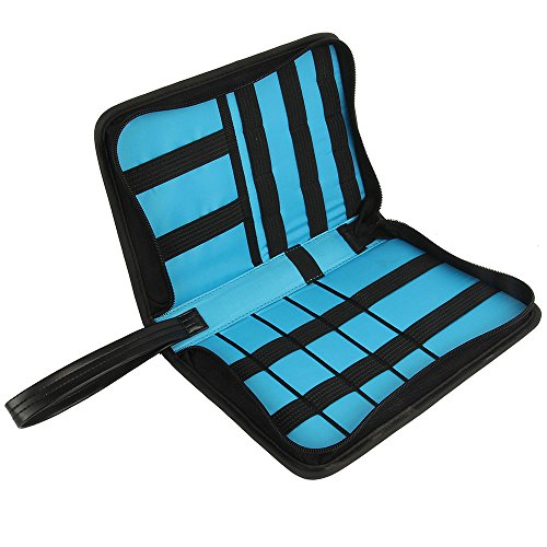 Khanka Universal Electronics Accessories Carrying Travel Organizer / Hard Drive Case Bag / Power Bank / Memory Card / Cable organizer (Medium) by Khanka (Image #6)