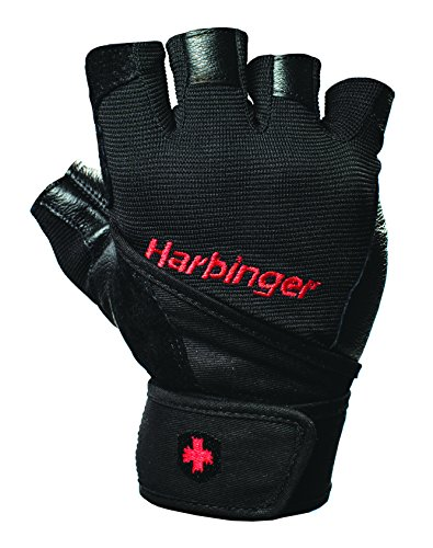 rap Weightlifting Gloves with Vented Cushioned Leather Palm (Pair), Large (Wrist Gloves)