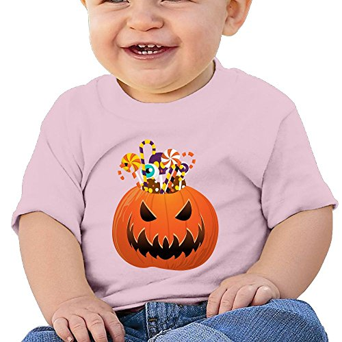 Halloween Pumpkin Baby Kids Short Sleeve Graphic Tees 6 (Tombstone Sayings For Halloween)