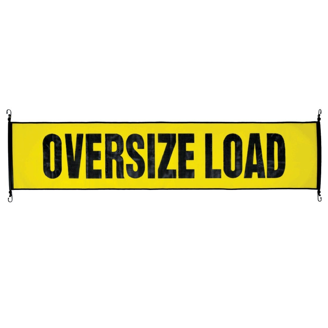 Vulcan Stretch Cord Mesh Oversize Load Banner with Heavy Duty Metal Hooks (18'' x 84'') - Required by Most States for Hauling Large Loads