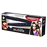 kiss red flat iron - Kiss Products Red Silicone Flat Iron, 1 Inch, 1.1 Pound