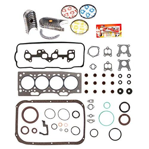 ine Rering Kit FSBRR2002EVE\0\0\0 87-94 Toyota Tercel SOHC 3E 3EE Full Gasket Set, Standard Size Main Rod Bearings, Standard Size Piston Rings ()