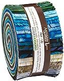 Lunn Studios Artisan Batiks Elementals Collection Landscapes Roll Up 40 2.5-inch Strips Jelly Roll Robert Kaufman Fabrics RU-386-40