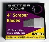 Better Tools - 4'' Scraper Blades - (100 blades/box)
