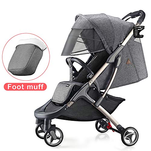 Learn More About Hot Mom Lightweight Baby Stroller Buggy Suitable for Travel-Gray