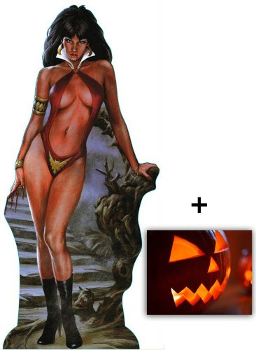 Fan Pack - Vampirella Lifesize Cardboard Cutout / Standee - Includes 8x10 (20x25cm) Halloween Photo -