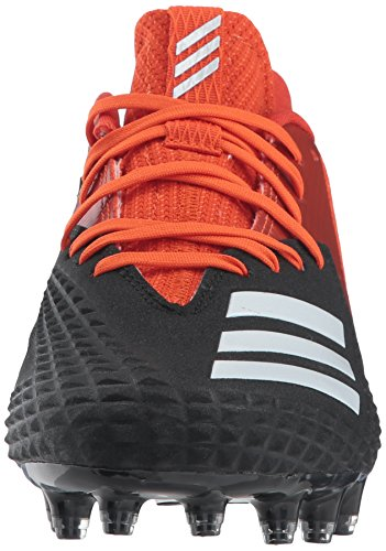 Adidas Mens Monstre X Carbone Mi Football De Base De Chaussures Noir / Blanc / Orange, Collegiate