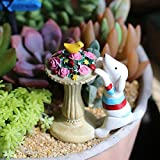 Labu Store Zakka Resin Mini Dog Cat Puppy Bonsai Miniature Figurines Flowerpot Terrariums Toys Garden Stands Decoration Animal Ornaments