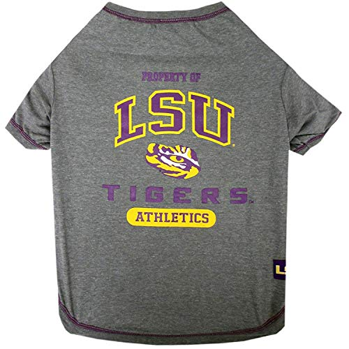 LSU Tigers NCAA Dog Pet Tee T-Shirt (Small)