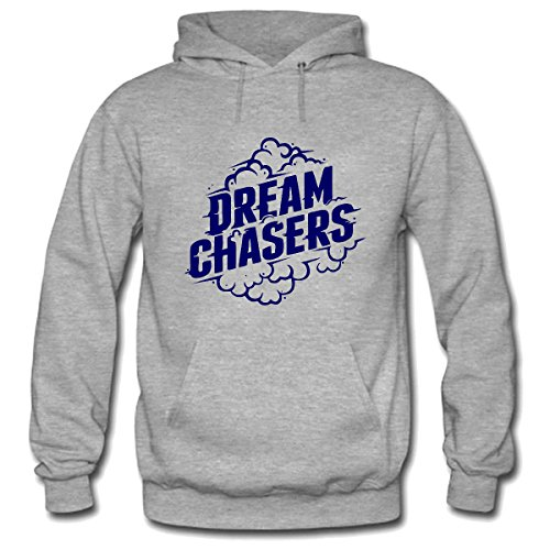 Hillet Men's Dream Chasers Pullover Hoodie Sweatshirt Size M Gray